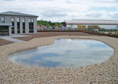 Großzügig stilistisch angelegter Teich